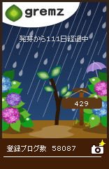 グリムス地方も梅雨入り111